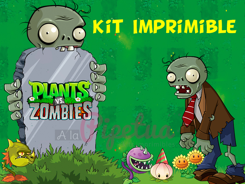 Kit Imprimible Plantas Vs Zombies