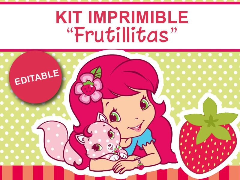 20ef58514 Kit imprimible Frutillita | Kits imprimibles A la Pipetua