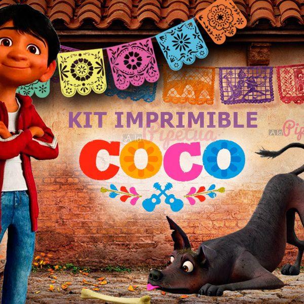 Kit imprimible Coco | Kits imprimibles A la Pipetua